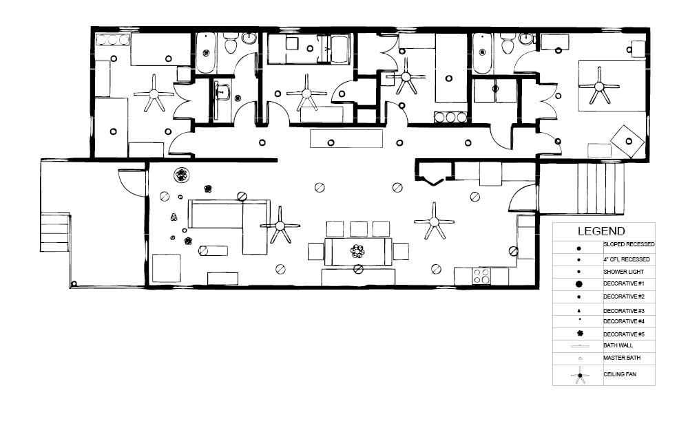 Detailed Plan Of Ceiling Elements Within 2 Finished Looking Upward Includes Lighting Vents And Other Attached Fixtures Soffits Trays